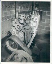 Vintage Diesel Electric Generator Press Photo