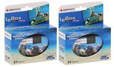 2x AgfaPhoto LeBox Ocean 400 Asa Unterwasser Einwegkamera 27 Aufnahmen Blitz