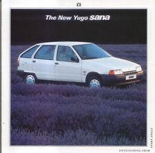 Yugo Sana 1990 Original UK Sales Brochure