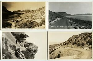WESTERN HIGHWAY LOT antique picture postcard photo rppc NV WY OR tahoe