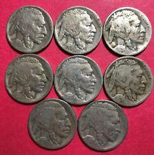 1924-D Buffalo Nickels (8 coins)
