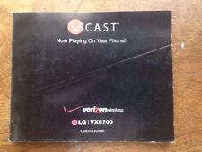 Verizon Wireless  LG VX8700 Phone User Manual