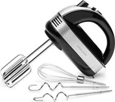 Andrew James Hand Mixer Electric Food Whisk with Extra Long Beaters & 5 Speeds