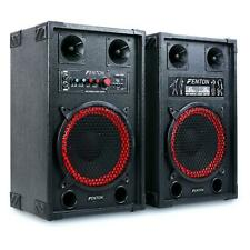 AKTIVES DJ PA BASS BOXEN LAUTSPRECHER SET 600W PARTY SOUND SYSTEM USB SD MIC IN