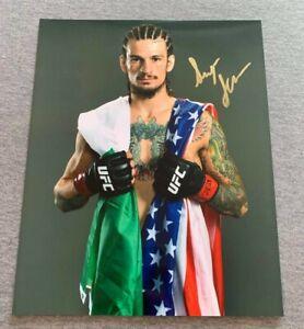 """UFC FIGHTER- """"SUGAR"""" SEAN O'MALLEY AUTOGRAPH 8x10 PORTRAIT PHOTO #1 SIGNED AUTO"""