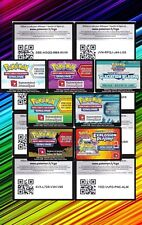 Lot de 50 Codes Pokemon Online neuves - Unused