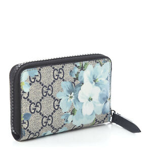 Gucci Blooms Black Navy Zip Blooms Bloom 546354 card case gucci blue flower New