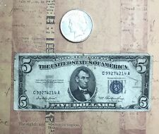 (1) Silver Peace Dollar 1922 or later & BONUS (1) 1953 $5.00 Silver Certificate