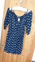 BNWT George Blue/White Dress Size 12 New
