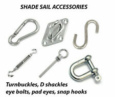Sun Shade Sail Stainless Steel Hardware Installation Kit For Square and Triangle
