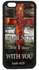 Cross Christian Bible Verse Isaiah 41:10 iPhone 4 4s 5 5s 5c 6 6 Plus Case Cover