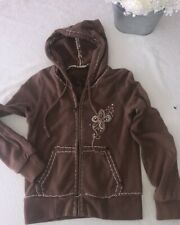 Miss Me Girls Hoodie Jacket Zip Up Rhinestone Sz L