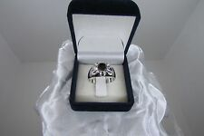 Sterling Silver 1.25 Carat Black Diamond Ring Size 10