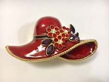 Red Hat Bejeweled Trinket Box