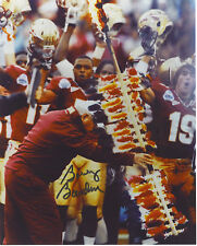 BOBBY BOWDEN FLORIDA STATE SEMINOLES AUTOGRAPHED SIGNED 8X10 SPEAR PHOTO!