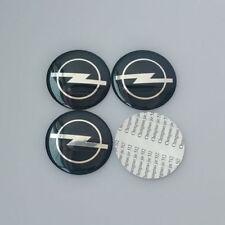 4x (Sticker) 56mm OPEL Black/Silver Wheel Centre Cap Sticker Logo UK Stock