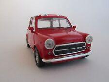 Welly Mini Cooper 1300  / Rot /Flagge / Rückzugmotor/Druckgussmodel/1:39/OVP/Neu