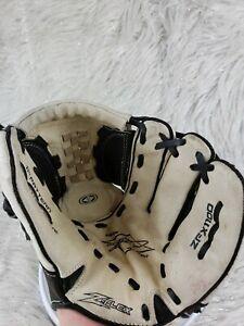 """Easton Flex Jeff Kent 11"""" Youth Baseball Glove ZFX1100 E Leather Glove Tan Black"""