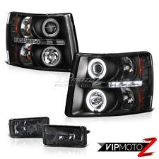 Chevy 07-2013 GMT900 Silverado L+R CCFL Angel Eye Projector Headlights/Fog Light