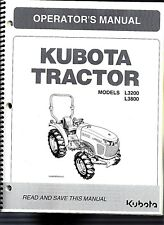 Kubota L3200 & L3800 +LA524 Tractor Operator's Manual PLUS the  Loader Manual