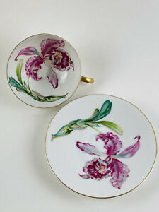 Set of 4 UCAGCO CHINA Demitasse Floral Cup and Saucer Sets