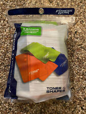 New In Package- Fitness Gear Flexibility Bands - Light, Medium & Heavy