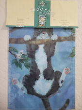 Bromley Cat Hanging from a Branch small garden Toland Flag