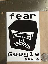 XVALA Fear Google Street Art Sticker Free Shipping