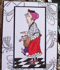 Granny With her Dog 2 stamps WOOD L@@k@ examples Art Impressions Rubber Stamps