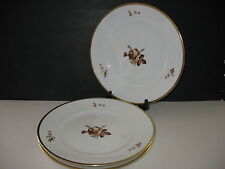 "Royal Copenhagen BROWN ROSE Set of 3 Large Dinner Plates 10.75""  785  688"