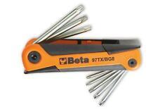 Serie chiavini tascabili 8 pezzi piegati torx maschi Beta articolo 97TX/BG8.