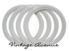 """VINTAGE COLLECTOR CAR AUTOMOBILE WHITE WALL TIRES 14"""""""