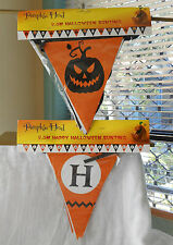 SET OF 2 PAPER HALLOWEEN BUNTINGS 2.5M LONG WITH 15 FLAGS ON EACH HANGING DECOR
