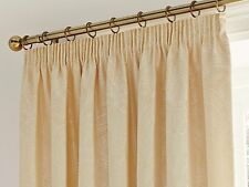 """66"""" x 72"""" LINDEN GOLD CURTAINS FLORAL JACQUARD ETHNIC LINED YELLOW MINK TAN"""