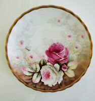 Antique Elite Limoges Hand Painted Gold Gilt Plate Signed by Artist