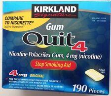 Kirkland Signature Quit Gum 4mg Nicotine Polacrilex Stop Smoking Aid