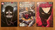 Amazing Spiderman 569, 570, 571 LOT New Ways to Die - Venom variant