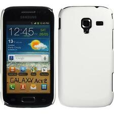 Hardcase Samsung Galaxy Ace 2 rubberized white Cover + protective foils
