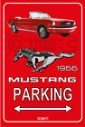 Parking Sign Metal MUSTANG CONVERTIBLE 1966 - 08 RED