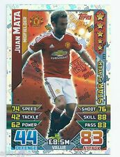 2015 / 2016 EPL Match Attax Star Player (177) Juan MATA Manchester United