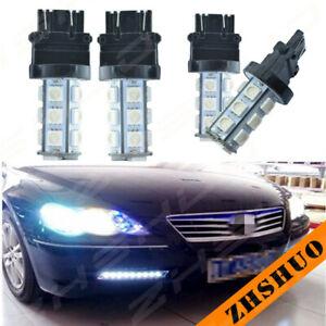 4x Car Ice Blue LED 3157 3457 3057 33SMD Brake Light Signal Lamp Bright 8000K