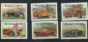 DOMINICA STAMPS 1983 CLASSIC MOTOR CARS SG 858/63 MINT NEVER HINGED