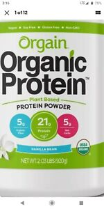 Orgain Organic Plant Based Protein Powder, Vanilla Bean - Vegan, Low Net Carb...