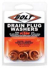 BOLT Oil Drain Plug Washer Kit 2 and 4 Stroke Copper Dirt Bike Motocross For KTM