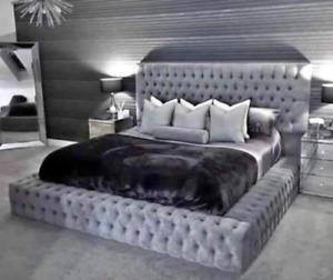 CHESTERFIELD AMBASSADOR PARK LANE BED FRAME PLUSH VELVET DOUBLE SIZE SUPER KING