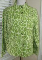 COLDWATER CREEK Snap Front JACKET - Lime Green - Womens Size Large