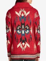 Ralph Lauren Denim Supply Women Southwestern Aztec Indian Knit Sweater Cardigan