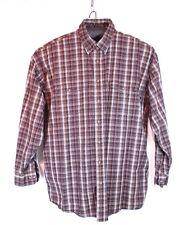 Panhandle Slim Cowboy Size XXL Long Sleeve Brown Plaid Shirt