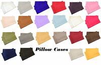 Set of 2 Pillow Cases Super Soft Hypoallergenic 1800 Premier Brushed Microfiber