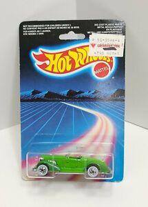 Auburn 852 Green Chrome Basic Whitewall Rainbow 1986 Hot Wheels 463